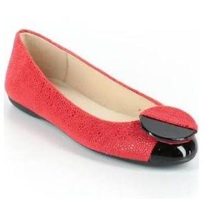 EUC FS/NY Red & black ballet flats, Size 8.5